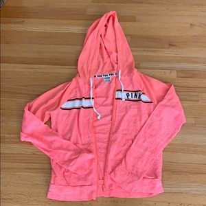 Pink Hoodie sweatshirt by pink size small